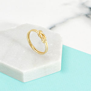 18ct Gold Vermeil Knot Ring