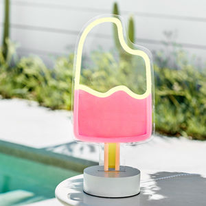 Ice Lolly Neon Table Light - table lamps