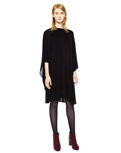 Black Jersey Layered Draped Dress - jumpers & cardigans