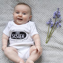 Monochrome Brother/Sister Sibling Slogan T Shirt