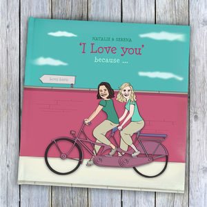 Hers And Hers Personalised 'I Love You' Book - gifts for her
