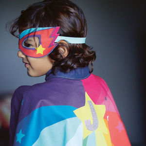 Personalised Superhero Cape Superstar Rainbow - fancy dress