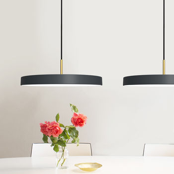 Midnight Grey Disc Pendant Light