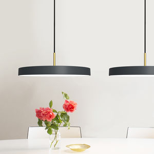 Midnight Grey Disc Pendant Light - ceiling lights