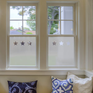 Stars Frosted Window Film
