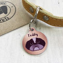 Copper Effect Dog ID Tag Personalised