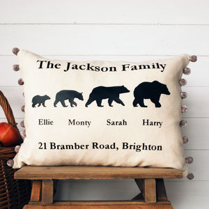 Bear Family Cushion - cushions
