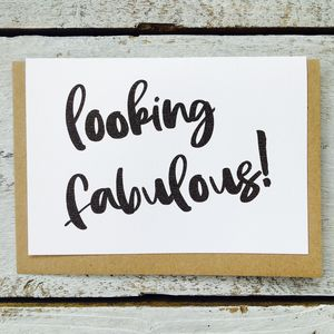 'Looking Fabulous!' Card