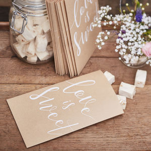 Wedding Day Candy Bar Sweets Treat Party Bags - room decorations