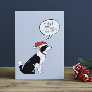 Border Collie Christmas Card - cards & wrap