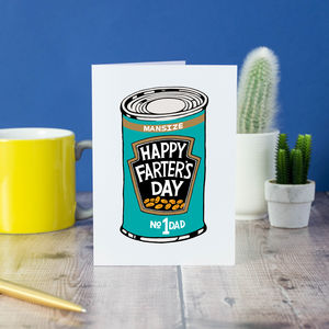 'Happy Farter's Day' Card - winter sale