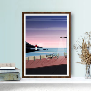 Lighthouse And Bicycle Art Print