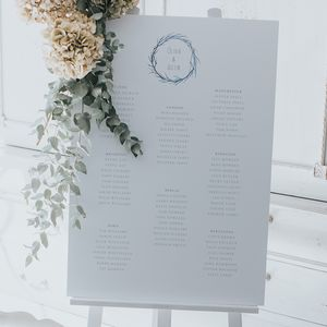 Watercolour Branch Table Plan - room decorations