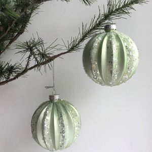 Pale Green Christmas Bauble