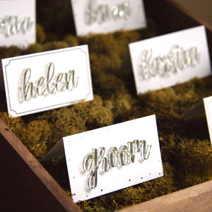 Laser Cut Name Place Cards - room decorations