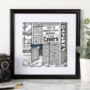 The Cavern Club Illustration Print - posters & prints