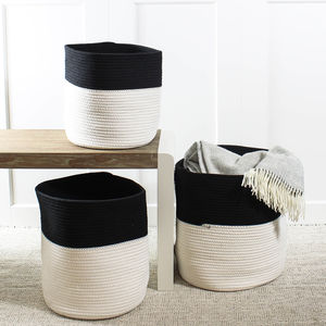 Monochrome Storage Basket Set - new in baby & child