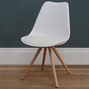 Retro Classic White Chair - furniture