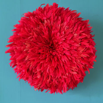 Feather Ju Ju Head Dress Or Wall Hanging By Iamia