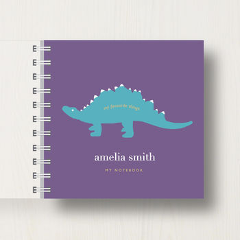 notebook in mauve colour scheme