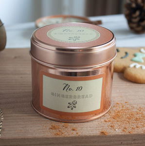 Gingerbread Scented Christmas Candle Gift - dining room