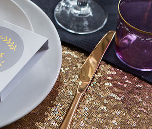 Sequin Tablecloth - dining room