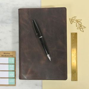 Vintage Leather Personalised Notebook - personalised