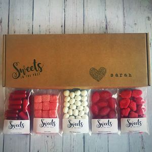 Valentine's Personalised Letterbox Sweets Gift Box
