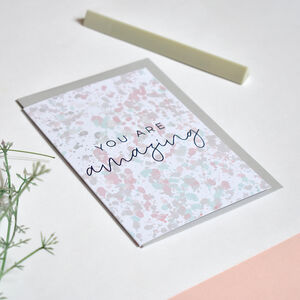 You Are Amazing Greeting Card Recycled Blank Inside