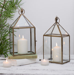 Brass Candle Lantern - home accessories