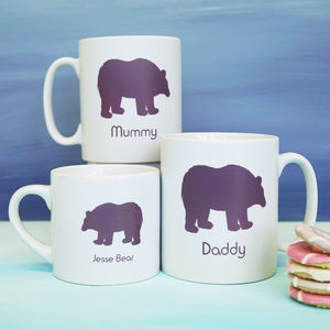Personalised Family Polar Bear Mugs - mugs