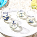 Nautical Inspired Stemless Wine Glass Set In Gift Box