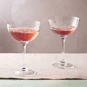 Pair Of Star Champagne Saucers - drink & barware