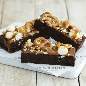 Pretzel Popcorn Brownie Gift Box - foodies