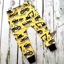 Machines Baby Toddler Leggings, Tractors, Yellow