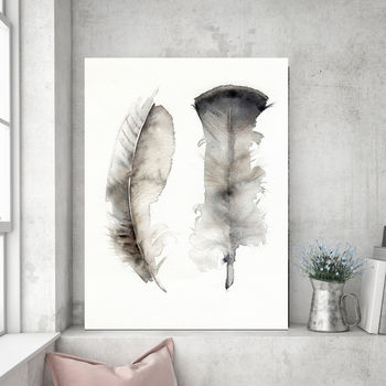Floating Feathers, Canvas Art