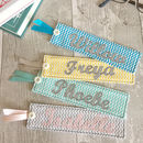 Personalised Chevron Print Bookmark