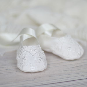 Christening Booties 'Lucy' - christening wear