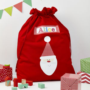 Personalised Christmas Santa Sack - children's room