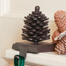 Cast Iron Pine Cone Christmas Stocking Hanger