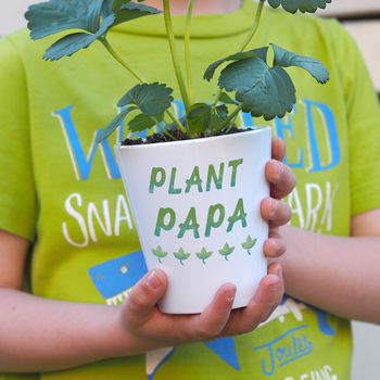 plant papa plant pot gift for daddy fathers day gift