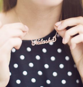 Personalised Handmade Name Necklace - necklaces & pendants