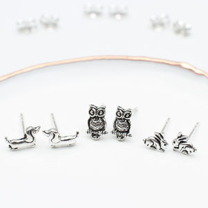 Sterling Silver Tiny Creatures Earrings