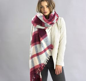 Personalised 'Berry Crush' Blanket Scarf - blanket scarf trend