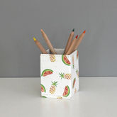 Recycled Pineapple And Watermelon Design Pen Pot - trends