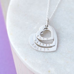 Personalised Multiple Heart Necklace - necklaces & pendants