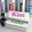 PERSONALISED WATER BOTTLE COLOURS