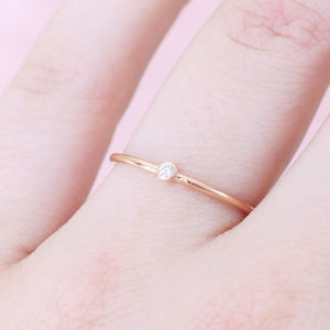 9ct Rose Gold Diamond Dot Ring - what's new