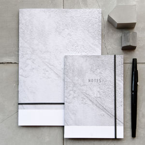 Concrete Moon Texture Notebook