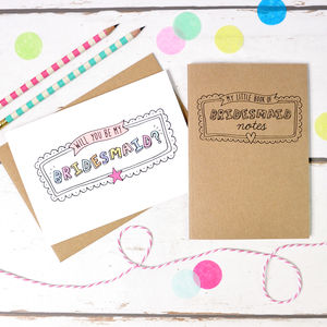 Will You Be My Bridesmaid Card And Notebook Set - planners & records